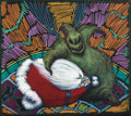 Animation Art:Concept Art, Tim Burton's Nightmare Before Christmas Oogie Boogie ManConcept/Presentation Art (Touchstone/Walt Disney, 1993)....