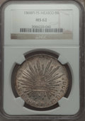 Mexico, Mexico: Republic 8 Reales 1868 Pi-PS MS62 NGC,...