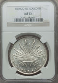 Mexico, Mexico: Republic 8 Reales 1896 Go-RS MS63 NGC,...