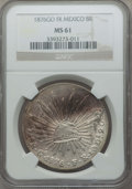 Mexico, Mexico: Republic 8 Reales 1876 Go-FR MS61 NGC,...