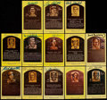 Autographs:Post Cards, Baseball Greats Signed Hall of Fame Plaque Postcard Lot of 13. ...