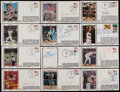 Autographs:Letters, Baseball Legends Signed First Day Covers Collection. ...