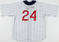 Baseball Collectibles:Uniforms, 1997 Travis Fryman Game Worn & Signed Detroit Tigers Throwback Jersey With Team Letter....