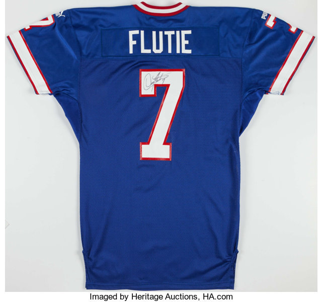 new product b91b5 a348a 1999 Doug Flutie Game Issued, Signed Buffalo Bills Jersey ...