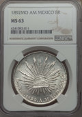 Mexico, Mexico: Republic 8 Reales 1892 Mo-AM MS63 NGC,...