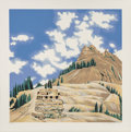 Fine Art - Work on Paper:Print, Lowell Nesbitt (1933-1993). Animas Valley Colorado I, 1981.Screenprint in colors on paper. 30 x 30 inches (76.2 x 76.2 ...
