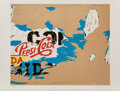 Prints:Contemporary, Mimmo Domenico Rotella (1918-2006). Pepsi, 1979. Screenprintin colors on paper. 20 x 24-1/2 inches (50.8 x 62.2 cm) (im...