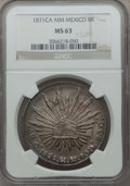 Mexico, Mexico: Republic 8 Reales 1871 Ca-MM MS63 NGC,...