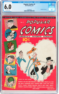 Popular Comics #2 (Dell, 1936) CGC FN 6.0 Off-white pages