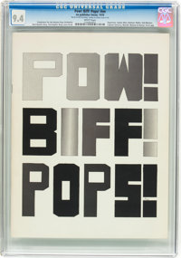 Pow! Biff! Pops! Boston Pops Promotional #nn (Marvel, 1978) CGC NM 9.4 White pages