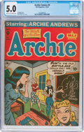 Golden Age (1938-1955):Humor, Archie Comics #9 (Archie, 1944) CGC VG/FN 5.0 Cream to off-white pages....