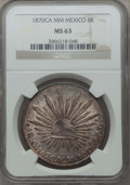 Mexico, Mexico: Republic 8 Reales 1870 Ca-MM MS63 NGC,...