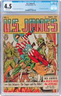 Golden Age (1938-1955):Superhero, U.S. Jones #1 (Fox Features Syndicate, 1941) CGC VG+ 4.5 Off-white pages....