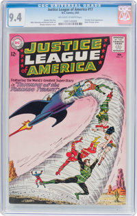Justice League of America #17 (DC, 1963) CGC NM 9.4 Off-white to white pages