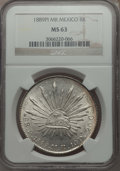 Mexico, Mexico: Republic 8 Reales 1889 Pi-MR MS63 NGC,...