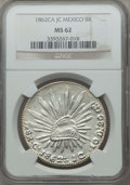 Mexico, Mexico: Republic 8 Reales 1862 Ca-JC MS62 NGC,...