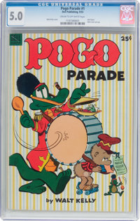 Dell Giant Comics: Pogo Parade #1 (Dell, 1953) CGC VG/FN 5.0 Cream to off-white pages
