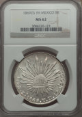 Mexico, Mexico: Republic 8 Reales 1869 Zs-YH MS62 NGC,...