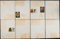 Autographs:Index Cards, 1959 Chicago Cardinals Signed Sheets. ...