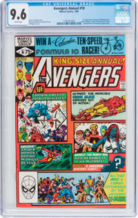 The Avengers Annual #10 (Marvel, 1981) CGC NM+ 9.6 White pages