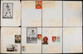 Autographs:Index Cards, 1959 Los Angeles Rams Signed Sheets. ...