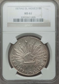 Mexico, Mexico: Republic 8 Reales 1879 As-DL MS61 NGC,...