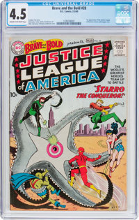 The Brave and the Bold #28 Justice League of America (DC, 1960) CGC VG+ 4.5 Cream to off-white pages