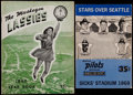 Baseball Collectibles:Publications, 1947 Muskegon Lassies Yearbook and 1969 Seattle PilotsProgram/Scorecard....