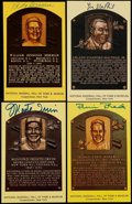 Autographs:Post Cards, Signed Hall of Fame Postcards Lot of 4 - Including Herman, Irvin,MacPhail & Roberts. ...