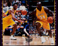 Basketball Collectibles:Others, Kobe Bryant & Shaquille O'Neal Signed Oversized Photograph. ...