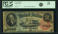 Large Size:Legal Tender Notes, Fr. 42 $2 1869 Legal Tender PCGS Fine 15.. ...