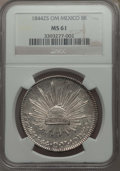 Mexico, Mexico: Republic 8 Reales 1844 Zs-OM MS61 NGC,...
