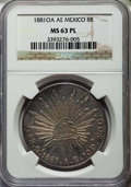 Mexico, Mexico: Republic 8 Reales 1881 OA-AE MS63 Prooflike NGC,...