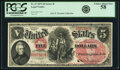 Large Size:Legal Tender Notes, Fr. 67 $5 1875 Legal Tender PCGS Choice About New 58.