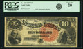 Large Size:Legal Tender Notes, Fr. 106 $10 1880 Legal Tender PCGS Very Fine 20.. ...