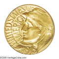 Commemorative Gold: , 1915-S G$1 Panama-Pacific Gold Dollar MS66 PCGS. Gem-quality goldcommemoratives are highly sought after, constituting as t...