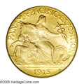 Commemorative Gold: , 1915-S $2 1/2 Panama-Pacific Quarter Eagle MS66 PCGS. Anextraordinary example of this conditionally challengingcommemorat...