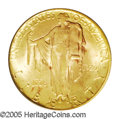 Commemorative Gold: , 1926 $2 1/2 Sesquicentennial MS65 PCGS. Lustrous surfaces arebathed in peach-gold patina imbued with traces of lime-green,...