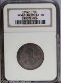 Coins of Hawaii: , 1847 1C Hawaii Cent MS61 Red and Brown NGC. An attractive MintState example of this interesting issue, that features a bus...