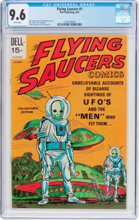 Flying Saucers #1 (Dell, 1967) CGC NM+ 9.6 White pages