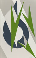 Prints & Multiples, Lee Krasner (1908-1984). Embrace for the Olympics, 1974-76. Screenprint in colors. 40 x 24-3/4 inches (101.6 x 62.9 cm) ...