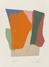 Larry Zox (1936-2006) Green Card Sound II, 1979 Screenprint in colors 40-3/8 x 29-3/4 inches (102