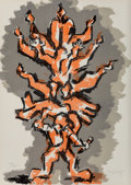 Fine Art - Work on Paper:Print, Jacques Lipchitz (1891-1973). Tree of Life, (threeworks), 1972. Lithographs in colors. 25-3/4 x 18-1/4 inches(...