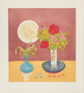 Fine Art - Work on Paper:Print, Jane Freilicher (b. 1924). Bouquet, 1992. Etching in colorswith aquatint. 25-3/8 x 23-1/4 inches (64.5 x 59.1 cm) (imag...