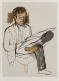 Fine Art - Work on Paper:Print, Alice Neel (1900-1984). Portrait of Edward Avedesian, 1981. Lithograph in colors. 32-1/2 x 24 inches (82.6 x 61.0 cm) (i...