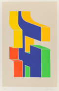 Fine Art - Work on Paper:Print, Chryssa (1933-2013). Times Square Fragment #10, 1979.Screenprint in colors. 37 x 24 inches (94.0 x 61.0 cm) (image).40...