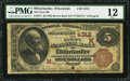 National Bank Notes:Wisconsin, Rhinelander, WI - $5 1882 Brown Back Fr. 471 The First NB Ch. # (M)4312. ...