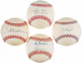 Autographs:Baseballs, Baseball Legends Single/Multi Signed Baseballs Lot of 4 - IncludesWilliams, Griffey, Ripken, & Mays....