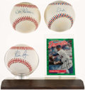 Autographs:Baseballs, Pitching Legends Single Signed Baseball Trio - Ryan, Gibson, &Maddux. ...