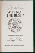 Autographs:Others, Jimmy Carter Signed Hardcover Book. ...